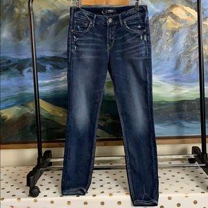Silver Avery ankle skinny jeans w28/l27